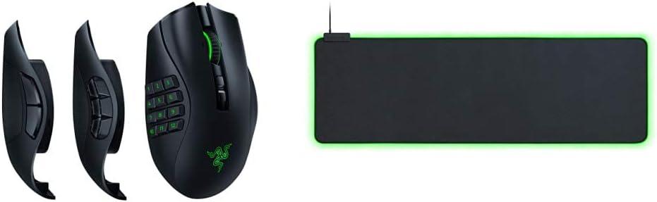 Razer Naga Pro Wireless Gaming Mouse + Goliathus Extended Chroma Gaming Mousepad Bundle