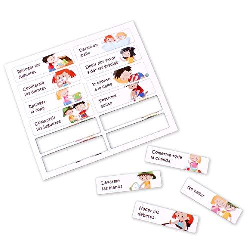 12 Actividades Magnéticas en Español para la Tabla de Recompensas aeioubaby | Juego Educativo Refuerzo Positivo