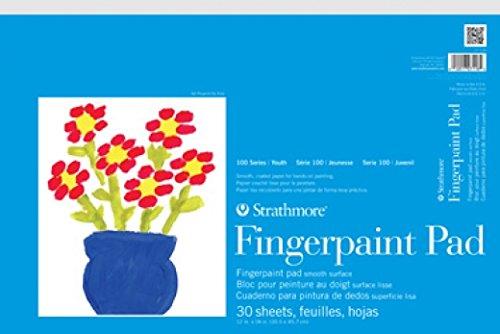 Strathmore 27118 STR27118 30 Sheet Kids FingerPaint Pad 12 by 18quot
