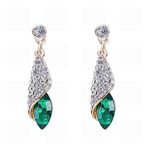 TIANYOU un Par de Pendientes de Aleación de Diamantes de Cristal a Juego de Color Retro de Moda para Mujer/Hipoalergénico/Brillo Plateado/Diamante/Cristal Blanco/Peque?o Y