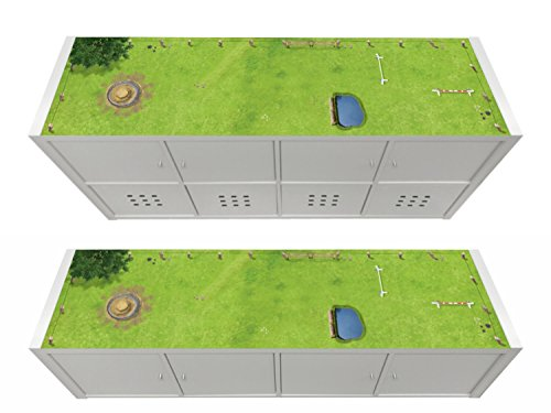 Stikkipix Pferdekoppel Möbelfolie | KSWL15 | passend für das Regal KALLAX von IKEA - (Möbel Nicht inklusive)