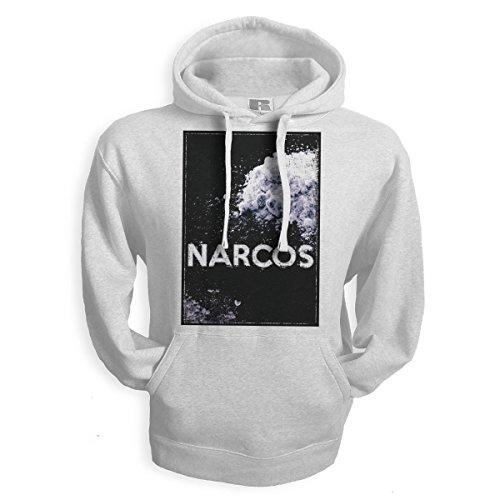 net-shirts Narcos Snow Hoodie EL Padron EL Patron Pablo Escobar T-Shirt Inspired by Narcos, Größe XL, Weiß