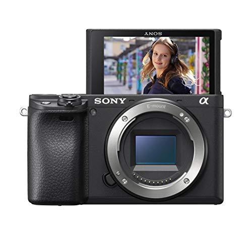 Sony Alpha 6400 E-Mount Systeemcamera, 24 MP, 4K Video, 180° Klapscherm, XGA OLED-Zoeker, Alleen Behuizing, Zwart