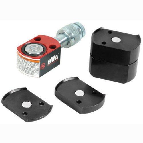 "BVA Hydraulics HF0503B 5 Ton 0.24"" Flat Body Cylinder Kit with CR Series 3/8 NPTF Regular Flow Coupler"
