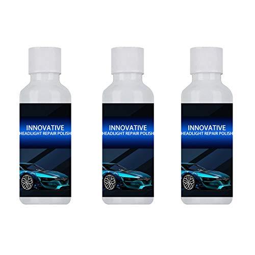LUCKLY Autoscheinwerfer polieren flüssige Flüssigkeit langlebiges Autoscheinwerfer-Reparatur- und Reparaturmittel für Vergilbung, Kratzer, Oxidation des Autoscheinwerfers 20ML, 3-TLG