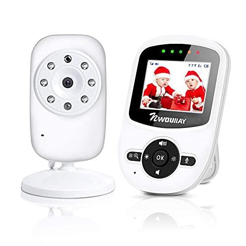 NWOUIIAY Baby Monitor Wireless Baby phone Digital Audio con Fotocamera Digitale Visione Notturna Monitoraggio della Sensore di Temperatura Espandibilità...