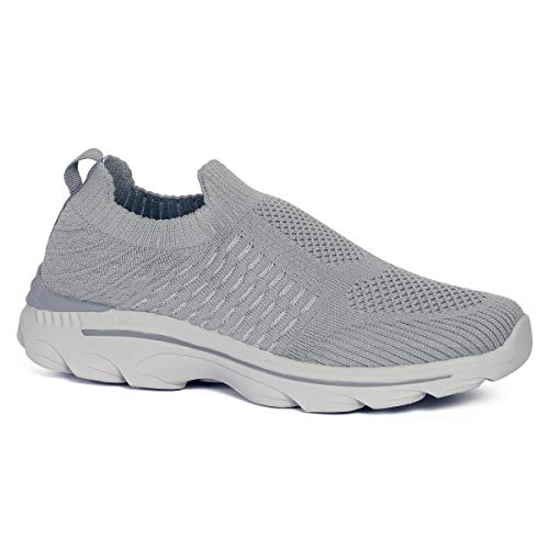 ACOSTAR Men's Grey Running Shoes - 6 UK