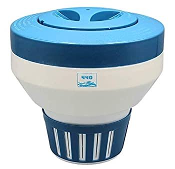 440 Pool Chlorine Floater Dispenser Fit 3  Tablet for Optimal Pool Chlorinator Improve Water Sanitation and Flow Control with Multiple Vents 5 Tabs Holder Capacity.