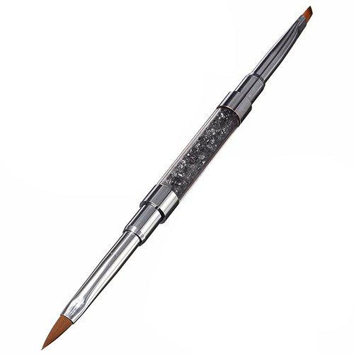 Homeofying 1pièce Nail Art Gel UV Strass Poignée à double Acrylique DIY Brosse Pen