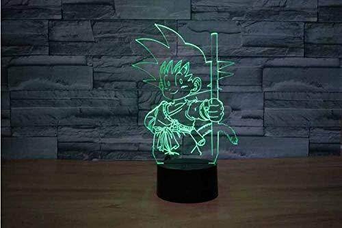 Dragon Ball Super Isaiah Bewegende Pop Aap 3D Fantoom Tafellamp 16 Soorten Van Kleur Veranderende Nachtlampje Jongens en Meisjes