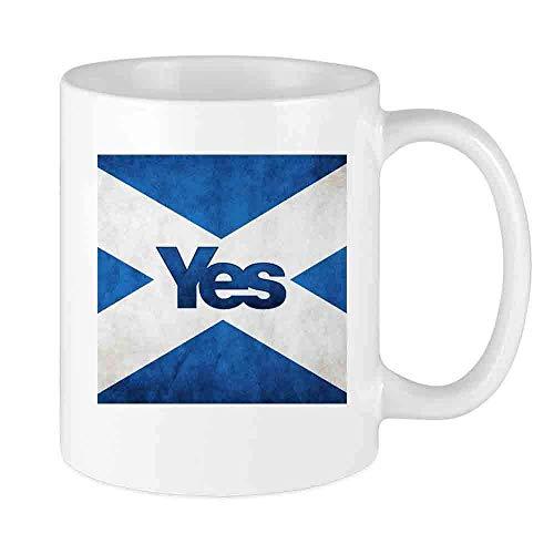 Taza de café divertida Sí Taza personalizada de la bandera de Escocia Regalo único de vacaciones de cerámica para hombres y mujeres que aman las tazas de té y la taza de café 12 oz