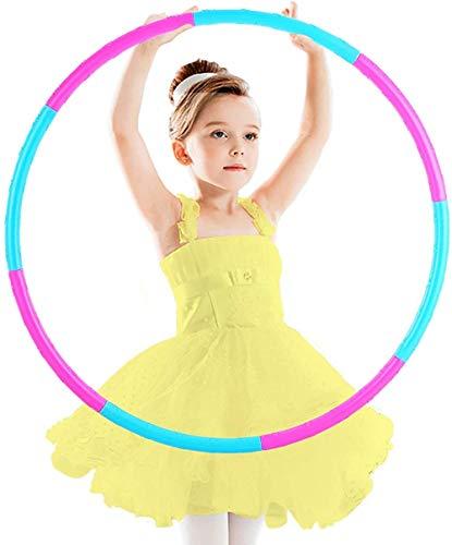 zzyysd Aros de ejercicio de fitness para niños desmontables y ajustables de tamaño de peso de plástico coloridos aros de juguete