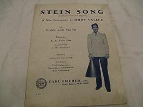 STEIN SONG RUDY VALLEE 1930 SHEET MUSIC SHEET MUSIC 373