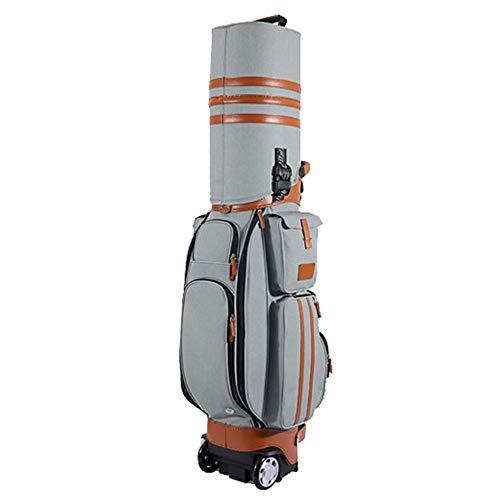 Yamyannie-Bag Golf Reisetasche Hochwertige wasserdichte PU Golf Multifunktionsbeutel Luftfahrtbeutel Mit Rädern, Passwortsperre Für Männer Frauen (Farbe : C4, Größe : 125 * 20cm)