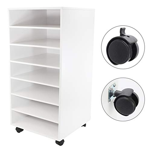 15.91x 33.62 Honey-Can-Do CRT-06345 Rolling Craft Storage Cart with 3 Drawers White