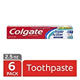 Colgate Triple Action Travel Toothpaste, Mint - 2.5 ounce (6 Pack)