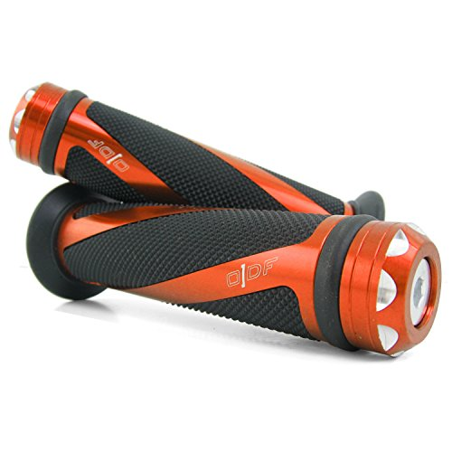 Lenkergriffe kompatibel mit Honda FMX 650, NTV 650, CA 125 Rebel, (Coil/Orange)