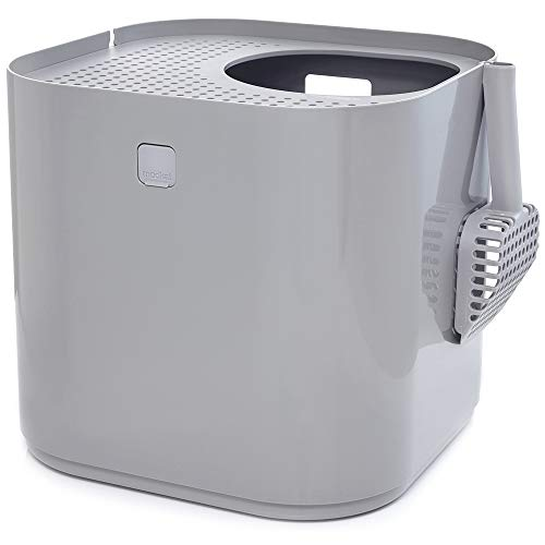 Modkat Litter Box, Top-Entry, Reduces Litter Tracking - Gray