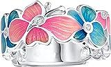Mode Schmetterling Blume Ring, Eleganz Frauen Party Schmuck Mama Frau Freundin Beste Freundin...