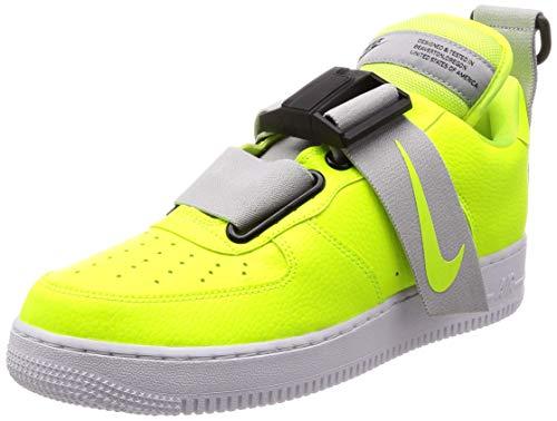 Nike Air Force 1 Zapatillas Deportivas Unisex, Blanco/Negro(Volt/White/Black), 12.5 Women/11 Men