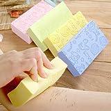 BENPAO 3 Piezas de Esponja de baño Exfoliante, Cepillo de baño, Esponja de Limpieza Fuerte para bebés Adultos, artefactos Esenciales para el baño del baño casero, Color Aleatorio