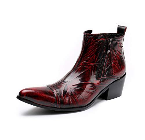 AzLLY Cowboy-laarzen voor heren, klassiek, hoog, met ritssluiting