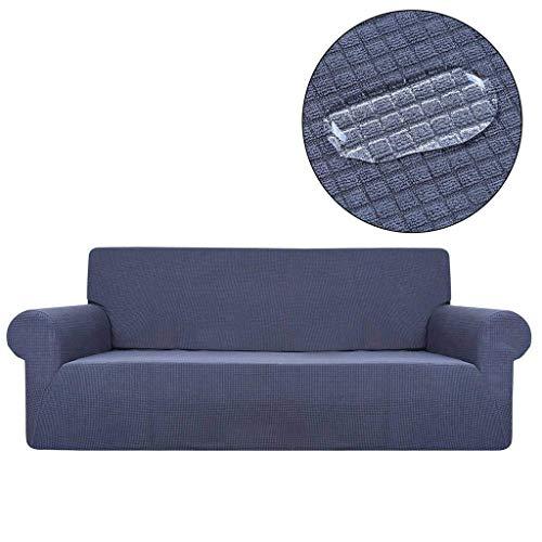 Jonist Funda de sofá Repelente al Agua Protector de Muebles Elastic Force Todo Incluido Funda de sofá de Color sólido-Una Persona-A