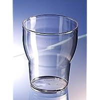 AIOS - Juego de 6 vasos apilables de policarbonato irrompible Roltex (250 ml a borde). Apta para lavavajillas. Ideal para el uso diario.