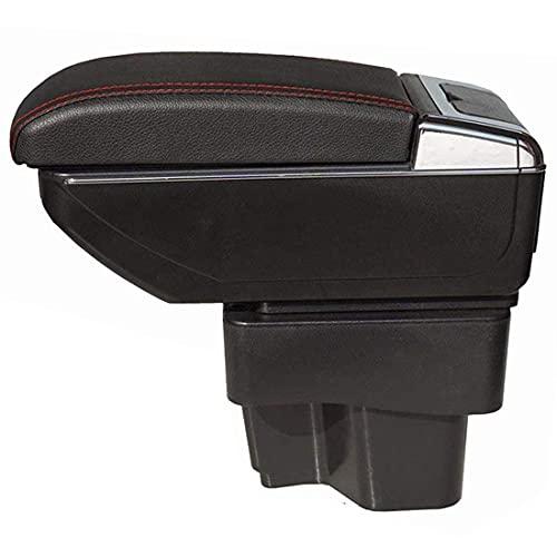 Coche ABS Apoyabrazos para Kia K2 2009 2010 2011 2012 2013 2014 2015 2016, El organizador grande de la caja de almacenamiento del reposabrazos del asiento de carro, el coche reemplaza los accesorios