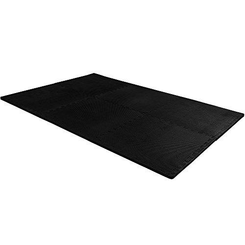 Deuba Alfombrilla Puzzle Negra de casa de Espuma EVA 183,5 x 123,5 cm Antideslizante Esterilla de Fitness Impermeable