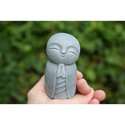 Taloit Jizo Gartenstatue, Lachender Jizo Mönch-Figur, kleiner Jizo Buddha, Kunstharzskulptur, perfekt für Zuhause, Büro, Garten, Außenbereich, Hofdekoration