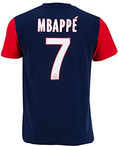 PARIS SAINT-GERMAIN T-Shirt Mbappé PSG - Collection Officielle Taille Enfant 10 Ans