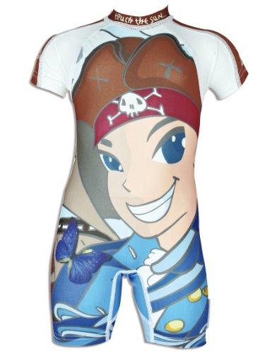 4BB2 Kinder UV Schutz Schwimmanzug Pirate D, mehrfarbig, 18 Monate, 60059/18M
