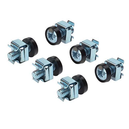 PremiumCord Rack-Montagesatz, 50 x M6-Schraube, 50 x Mutter, 50 x Kunststoffscheibe