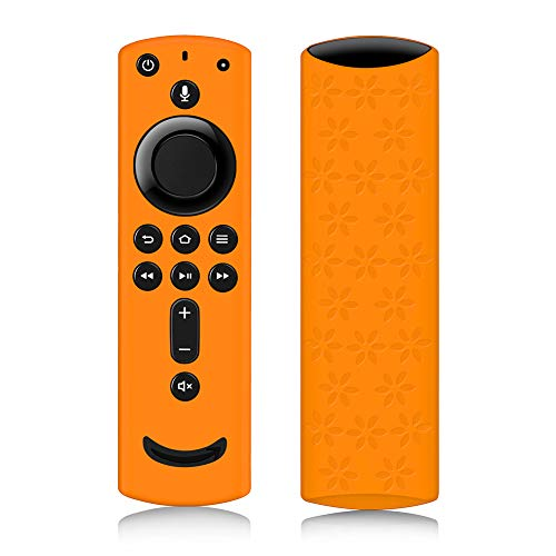 Remote Cover for Fire TV Stick 4K, Silicone Remote case for Fire TV Cube/Fire TV(3rd Gen) Compatible with All-New 2nd Gen Alexa Voice Remote Control, Lightweight Anti-Slip Shockproof (Orange)