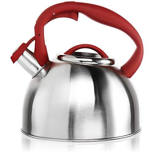 COM-FOUR® Hervidor de té de 2,4 L - Hervidor de agua grande...