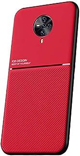 """MOONCASE Vivo S6 5G ケース, 柔らかくて耐衝撃性のあるTPUバンパーは、独特の滑り止めデザインを備えており、超薄型で細いシェルは、電話の本来の魅力を示しています に適し Vivo S6 5G 6.44"""" - 赤"""