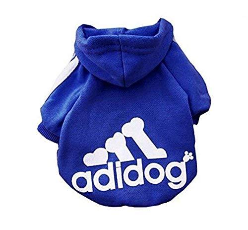 DOXMAL Adidog Hundebekleidung Winter Hunde Pullover Zubehör Hundepulli Kleidung Dog Clothes Kleine Hunde Royal Blue (XS)