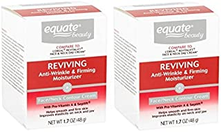 Equate Advanced Firming & Anti-Wrinkle Cream Face and Neck Moisturizer, 1.7oz, Pack of 2