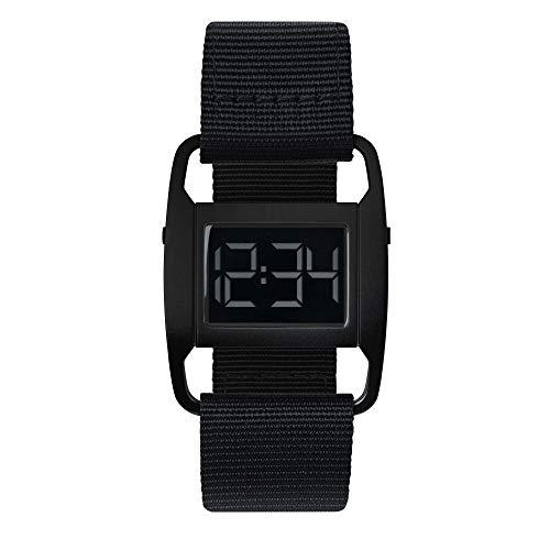 VOID Watches Uhr Digital mit nylon Armband PXR5-BL/BL Style: Matt Schwarz & Schwarzes Nylon Armband