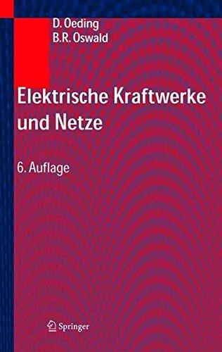 Elektrische Kraftwerke Und Netze PDF Books
