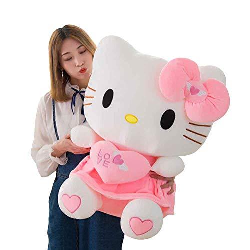 MTHDD Simpatico Peluche Hello Kitty Cat Adorabile Peluche Cuscino Bambola Giocattolo Bambini Fidanzata San Valentino di Compleanno Regalo,70cm