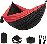 Btrwor Portable Hammock Camping Double & Single with 2 Tree Straps,Lightweight Nylon Travel Hammocks for 500lbs Capacity, for Outdoor,Backpacking, Backyard, Hiking