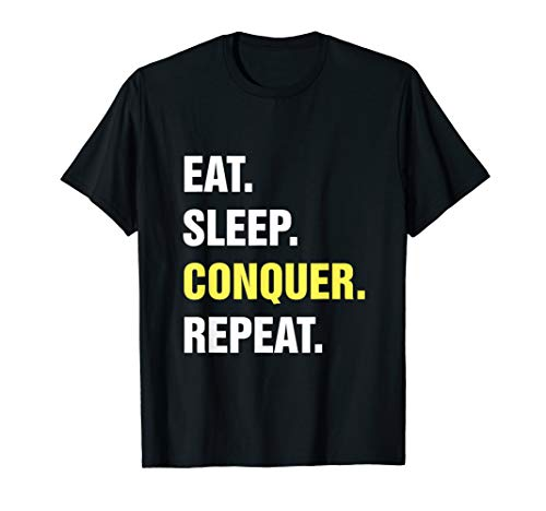 Eat Sleep Conquer Repeat Wrestling Ringen Catchen T-Shirt