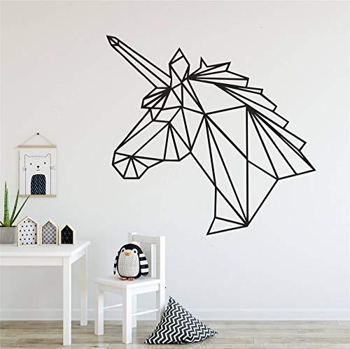 Tianpengyuanshuai Wandtattoo geometrisches Design Tier Wanddekoration Aufkleber Post 42X42cm