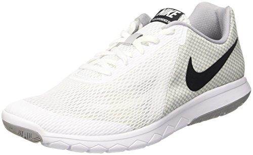 Nike Mens Flex Experience RN 6 White Black Wolf Grey Size 10.5