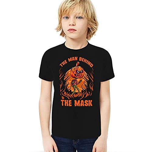 Cantoma The Man Behind The Mask Boy Camiseta 3D impresa Inicio Childrenthe Man Behind The Mask Negro