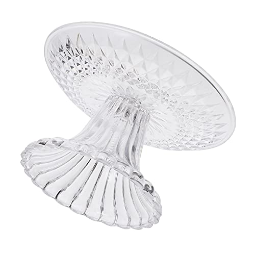 Cabilock Round Clear Acrylic Cake Stand 15cm Cupcake Stand Risers Fruit Plate Dessert Display Stands for Wedding Birthday Party Supplies