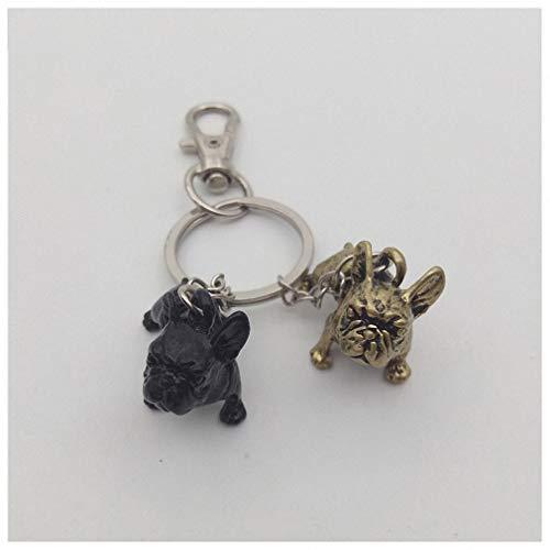 Womens Mens Keychain French Bulldog Keychain Animal Pet Memorial Jewellery French Bulldog Keychains Key Rings 2