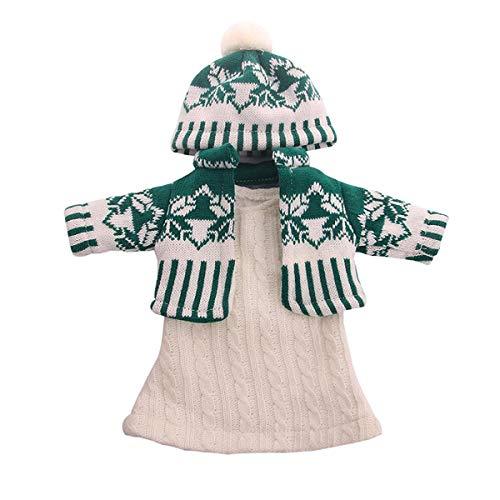Uteruik Pop Trui Kleding met Gebreide Hoed voor 46cm Meisje Pop Onze Generatie Pop Jurk Rok Outfits Kostuum Accessoire